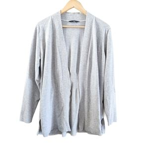 Denver Hayes Open Front Cardigan Sweater Grey 2XL